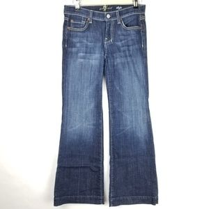 7 for all mankind Dojo Jeans size 25 Flare Dark